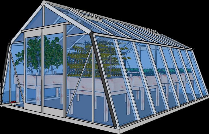 Serre bioclimatique pour châteaux, jardins et terrasses.