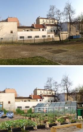 Projet d'aménagement paysager et végétalisation d'un square public par Neobab